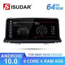 Isudar Qualcomm <b>Android 10 1 DIN</b> Car DVD Player for BMW X5 ...