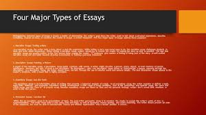 writing an effective essay a tutorial examples ppt four major types of essays distinguishing between types of essays is simply a matter of determining