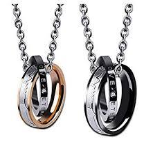 <b>Wedding Anniversary Valentine's Present</b> Couple Necklace ...