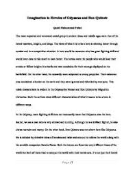odysseus epic hero essayimagination in heroics of odysseus and don quixote  both the     page   odysseus hero essay