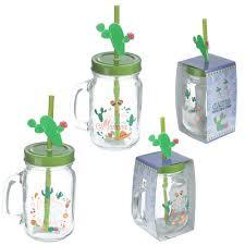 "<b>Кружка</b>-банка с <b>трубочкой</b> ""Cactus Jar"", 250 мл бренда Puckator ..."