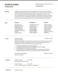 financial cv template business administration cv templates financial cv template