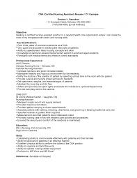 resume sample for cna with no  seangarrette co    no experience nursing assistant   resume