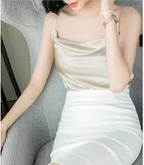 <b>Silk</b> Top Women Summer <b>Satin</b> Halter <b>Tops</b> Women <b>Korean</b> Woman ...
