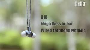 <b>K18 Mega Bass In-ear</b> Wired Earphone - GearBest.com - YouTube