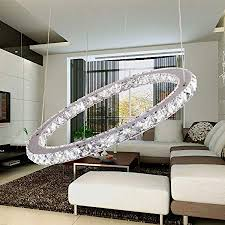 TOPMAX <b>Chandelier Light</b>, K9-Cut <b>Crystals Led</b> Ring <b>Chandelier</b> ...