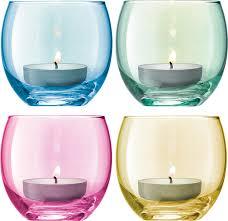 <b>Набор из 4 подсвечников</b> для чайных свечей LSA International ...
