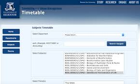 how to plan your timetable ahead of time unimelb adventures web timetable