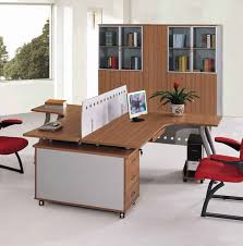 beautiful and cool office furniture ikea design ideas with face to face desk concept also red designer office chairs and black frame with flower on vase arrange cool