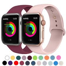 <b>Sport Silicone Band for</b> Apple Watch 38mm 42mm 40mm 44mm Soft ...