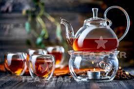 <b>Стеклянный заварочный чайник</b> Георгин 800 мл с подогревом от ...