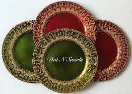 charger plates decorative: beautiful handmade charger plate henna plate pooja thali perfect for holiday decorwedding decor and henna party