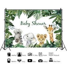Photo Backdrops Safari Animals <b>Tropical</b> Baby Shower Party Poster ...