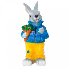 <b>Садовая фигура Заяц</b> с морковкой Garden Show ФП020, 25 х 30 х ...