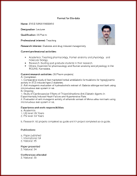 13 biodata format for teaching job sendletters info format biodata bilder
