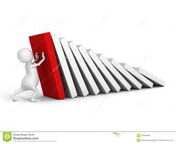 stop domino effect stock photos images pictures images white 3d man stop domino effect red first royalty stock image
