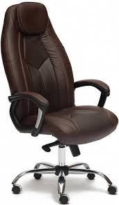 Купить <b>кресло</b> и <b>стул Tetchair Boss</b> Люкс, <b>хром</b> коричневый по ...