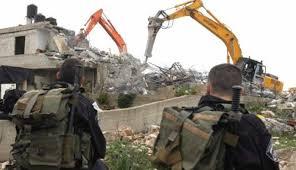 Image result for بولدوزرهای رژیم صهیونیستی خانههای فلسطینیان را در نقب ویران کردند