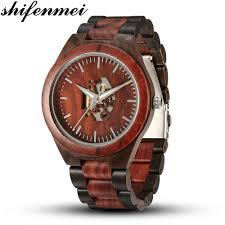 <b>Shifenmei Wood</b> Watch <b>Mens</b> Watches Top Brand Luxury <b>Wooden</b> ...
