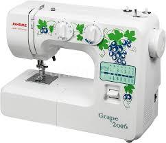 Купить <b>Швейная машина JANOME Grape</b> 2016 белый в интернет ...