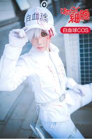 Cells At Work Cosplay Neutrophil Uniforms <b>Hat Anime Hataraku</b> ...