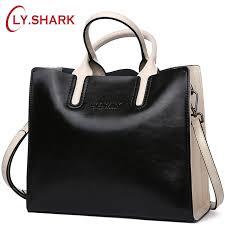 LY.SHARK Genuine <b>Leather Women Handbag Tote Bag</b> Shoulder ...