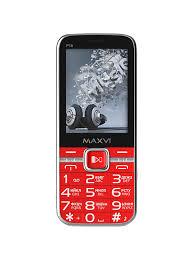Мобильный <b>телефон Maxvi P18</b> Red — купить в интернет ...