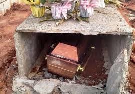 Resultado de imagem para Homem é preso após desenterrar o cadáver da mãe no interior do RN