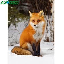<b>AZQSD Diamond</b> Painting Fox Needlework DIY Full Square ...