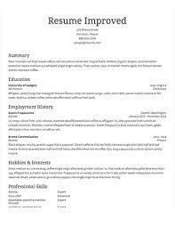 sample resume · resume comselect template improved traditional