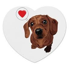 Коврик для мышки (сердце) Такса -любовь #633254 от nopperapon