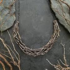 Black <b>titanium</b> raw quartz branches necklace witch pendant fantasy ...
