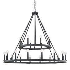 pearson black iron twenty four light chandelier capital lighting soho
