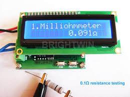 <b>High Precision</b> Milliohm Meter 0 to 120Ohm Low <b>Resistance</b> Tester ...