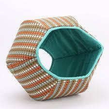 Cat Ball <b>cat bed</b> with Southwestern Fabric <b>Stripes</b> | <b>Cat bed</b>, Cat ball ...
