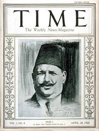 King Fuad 1 on the cover of Time Magazine in 1923