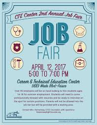 cte center nd annual student job fair view the flier