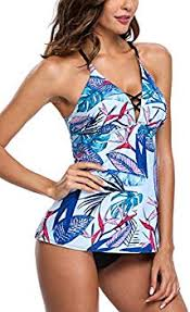 <b>Charmo Women</b> Two Piece Criss Cross Strappy <b>Tankini</b> Sets with ...