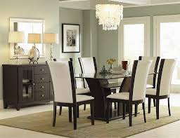 Mirrors For Dining Room Walls Excellent Simple Dining Room Ideas With And White Leather Chair