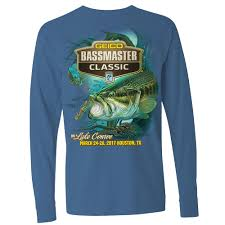 <b>2017</b> Bassmaster <b>Classic</b> Houston, TX Indigo Long Sleeve <b>T</b>-<b>Shirt</b> ...