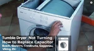 bosch siemens tumble dryer not turning