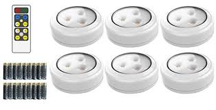 Brilliant Evolution <b>Wireless LED</b> Puck Light 6 Pack with <b>Remote</b> ...