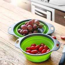 <b>1PC</b> Collapsible <b>Fruit</b> Washing Basket Strainer Holder Foldable ...