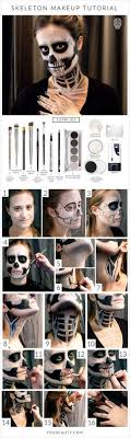 you can do this skeleton makeup tutorial with makeup you already own