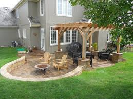 outdoor fireplace paver patio: comfortable look of rustic outdoor fireplace decor ideas