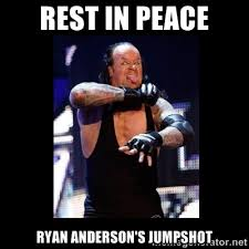 Rest in Peace Ryan Anderson's Jumpshot - Undertaker RIP | Meme ... via Relatably.com