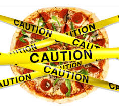 Pizza with Caution Tape