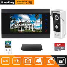 HomeFong Video Intercom Video Door Phone Doorbell Intercom <b>for</b> ...