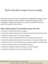 top  mcdonalds manager resume samplestop  mcdonalds manager resume samples in this file  you can ref resume materials for