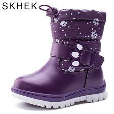 <b>SKHEK</b> Girls Winter <b>Boots</b> Waterproof Snow <b>Boots</b> For Boy <b>Pu</b> ...